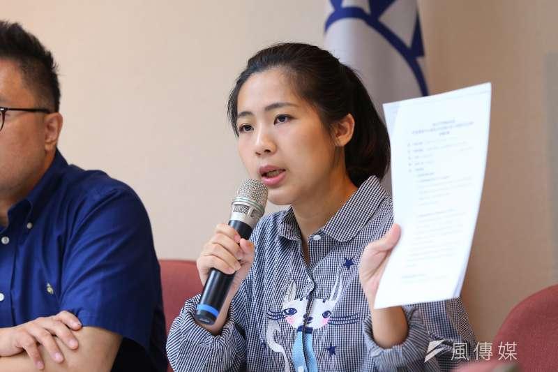 國民黨台北市議員徐巧芯(見圖)批評,民進黨副秘書長林飛帆對民進黨與自己的雙標還是只有推卸責任那一套。(資料照,顏麟宇攝)