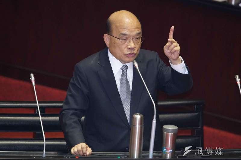 行政院長蘇貞昌赴立法院備詢。(盧逸峰攝)