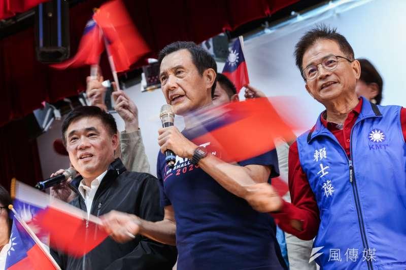 前總統馬英九回應陳同佳問題。(資料照片,簡必丞攝)