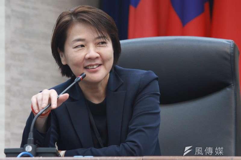 北市府今天舉行秘書長交接,台北市副市長黃珊珊到場。(方炳超攝)