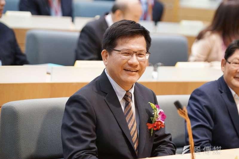 20191017-交通部舉辦「R-TEAM鐵道科技產業聯盟成立大會」,交通部長林佳龍出席。(盧逸峰攝)