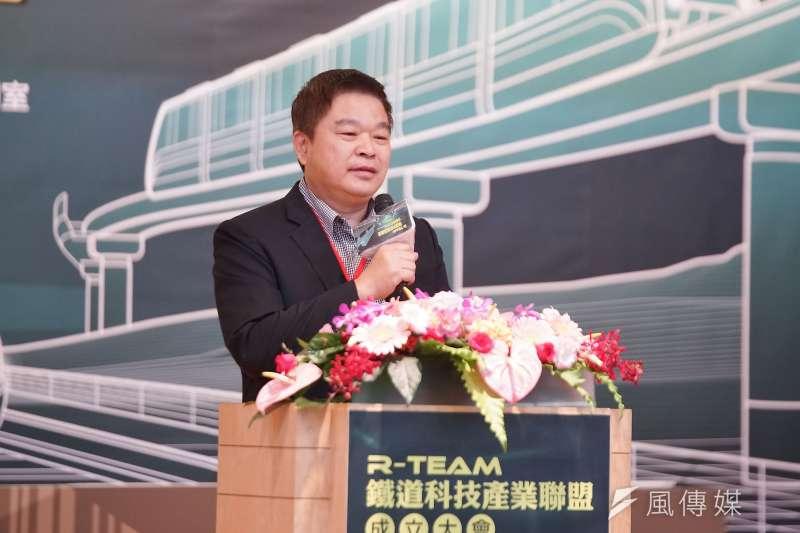 20191017-交通部舉辦「R-TEAM鐵道科技產業聯盟成立大會」,台灣車輛董事長蔡煌瑯出席。(盧逸峰攝)