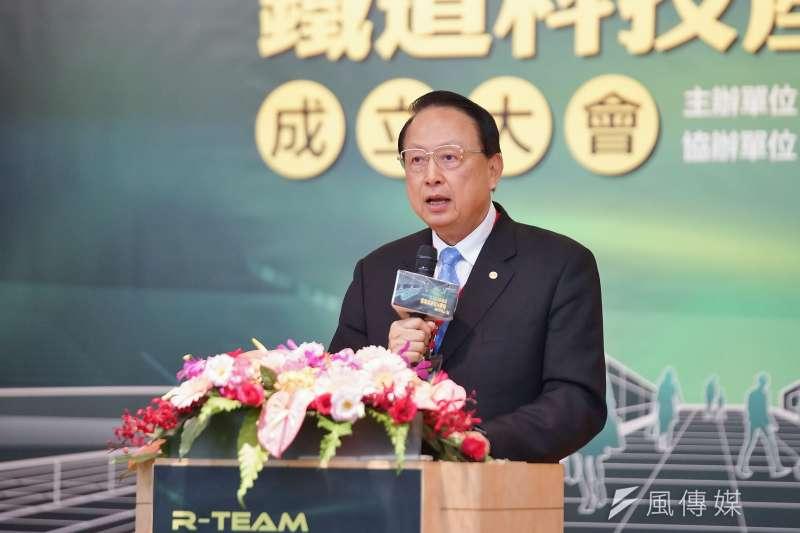 20191017-交通部舉辦「R-TEAM鐵道科技產業聯盟成立大會」,台灣高鐵江耀宗董事長出席。(盧逸峰攝)