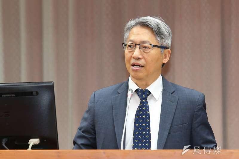 20191017-中研院長廖俊智17日出席教育文化委員會。(顏麟宇攝)