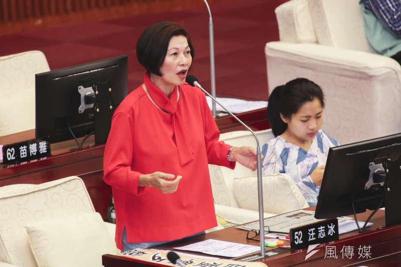 20191017-台北市議員汪志冰17日至市議會進行質詢。(簡必丞攝)
