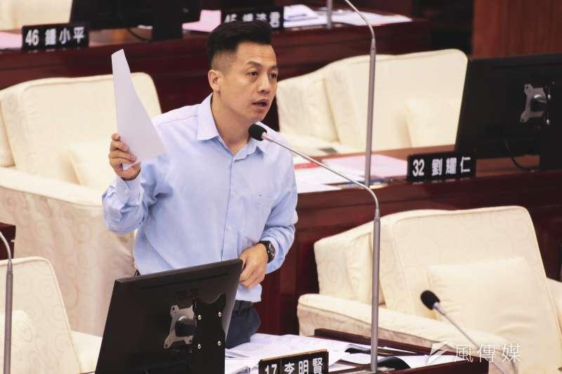 20191017-台北市議員李明賢17日至市議會進行質詢。(簡必丞攝)