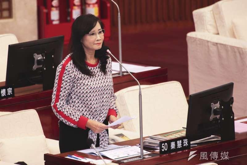 20191017-台北市議員秦慧珠17日至市議會進行質詢。(簡必丞攝)