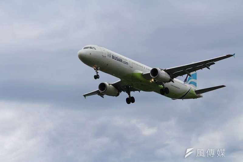 韓國航空業者釜山航空(見圖)、易斯達航空於近日開航花蓮與韓國三大城的直飛航線,目前至11月間,共有18架次包機直航花蓮。(資料照,方炳超攝)