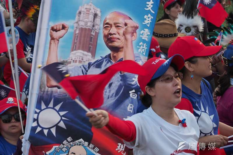 網友在批踢踢實業坊(PTT)發文,以「前總統陳水扁當年有像國民黨總統參選人韓國瑜(見圖)那麼會選舉嗎?」為題進行比較,引發討論。(資料照,新新聞林瑞慶攝)