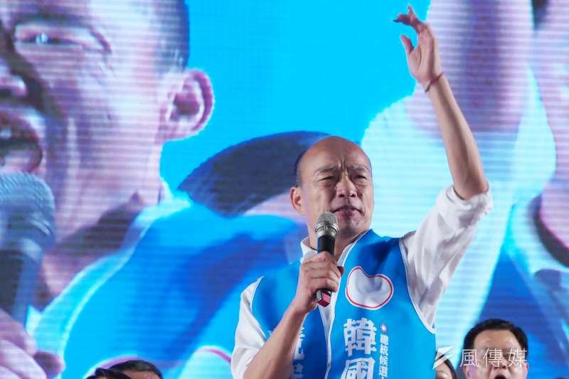 國民黨總統參選人、高雄市長韓國瑜近幾場造勢明顯有所改變,不但主動要求支持者勿鼓譟,韓每場活動安排更為細膩準時。(資料照,新新聞林瑞慶攝)
