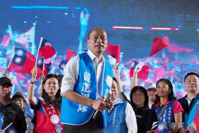 國民黨總統候選人、高雄市長韓國瑜(見圖)日前主張,台灣3000公尺以上山峰都要蓋升旗台。(資料照,新新聞林瑞慶攝)