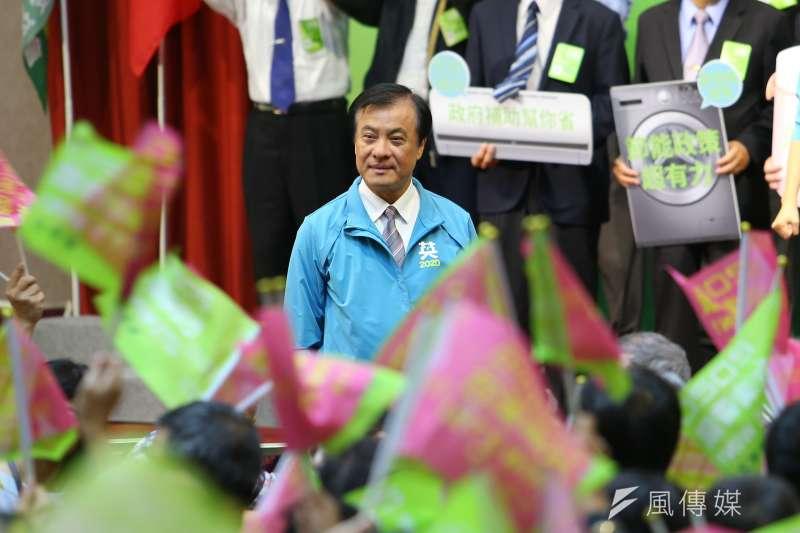 20191019-立法院長蘇嘉全19日出席「全國電器業界後援會成立大會」。(顏麟宇攝)