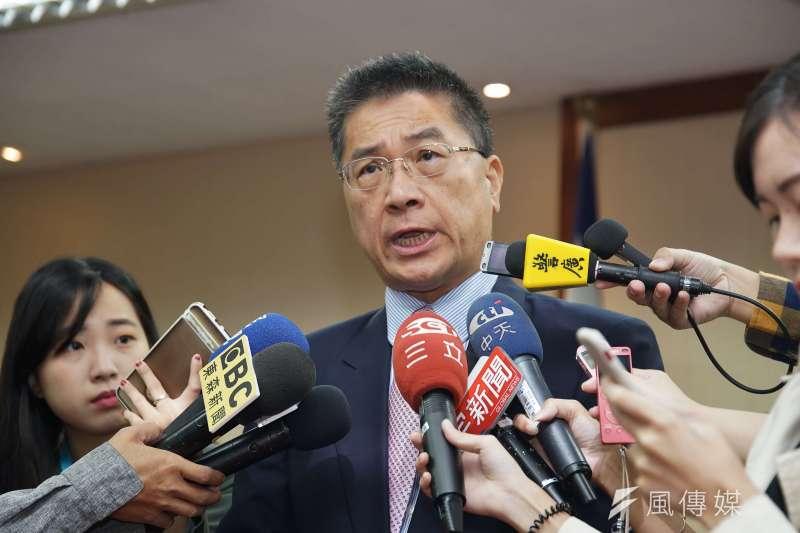 內政部長徐國勇於21日出席內政委員會備詢。(盧逸峰攝)