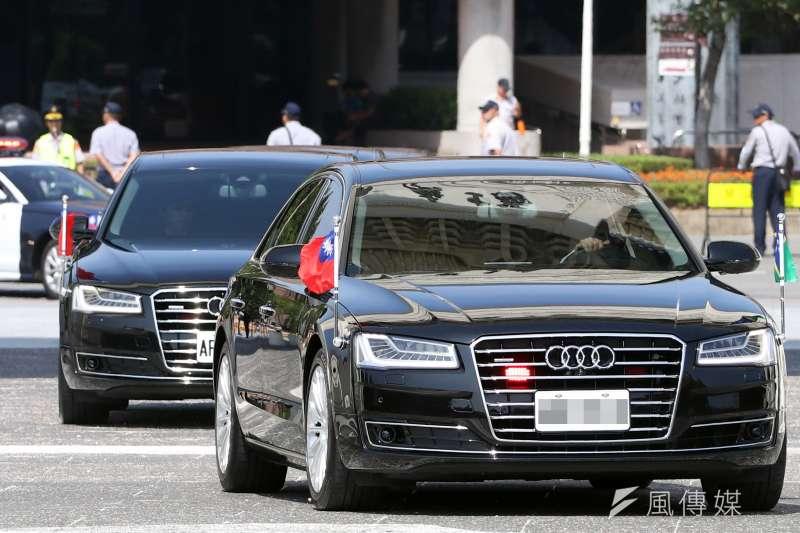 20191021-國安局已確定採購新車為總統、副總統車隊新用車,廠牌部分沿用總統蔡英文目前所使用的Audi A8L、A8車型。(蘇仲泓攝)