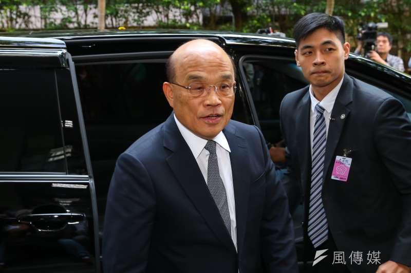 20191022-行政院長蘇貞昌22日出席立院總質詢。(顏麟宇攝)