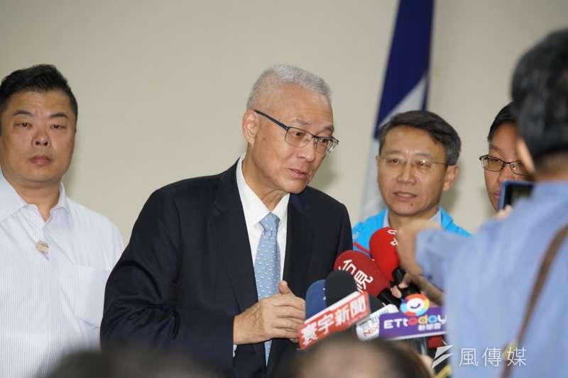國民黨主席吳敦義22日出席全國道教與法師後援總會成立大會。(盧逸峰攝)