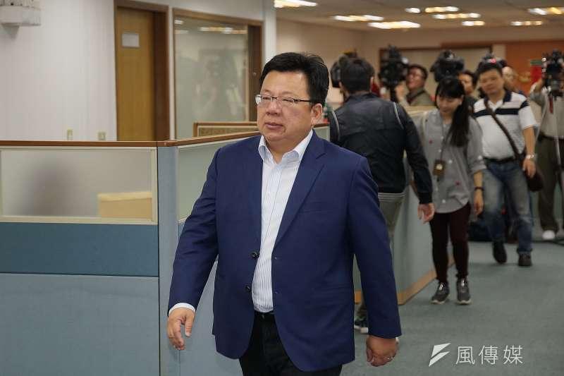 20191023-立委李俊俋23日出席民進黨中執會。(盧逸峰攝)