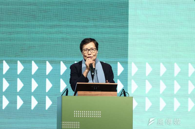 20191023-2020蔡英文總統連任全國觀光旅遊後援會成立大會,台灣觀光協會會長葉菊蘭。(陳品佑攝)