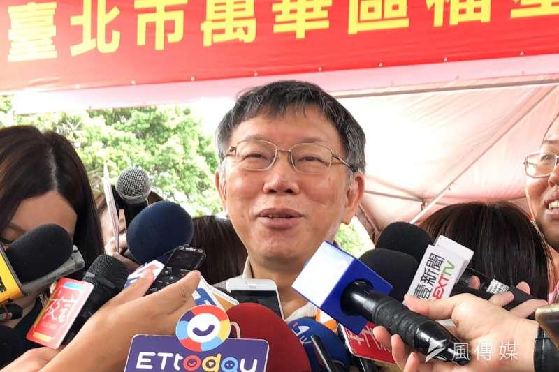 針對議員點名北市府發言人團隊應有人要歸建,台北市長柯文哲(見圖)23日表示,行政部門的用人權很少遇到來自這種立法權的直接干預,有時候他們已經超過界線。(方炳超攝)