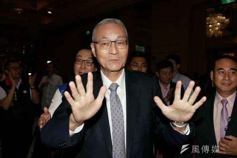 國民黨將於13日公布下屆不分區立委提名名單,據知情人士透露,因「自列不分區」引爭議的黨主席吳敦義排在第8。(資料照,盧逸峰攝)
