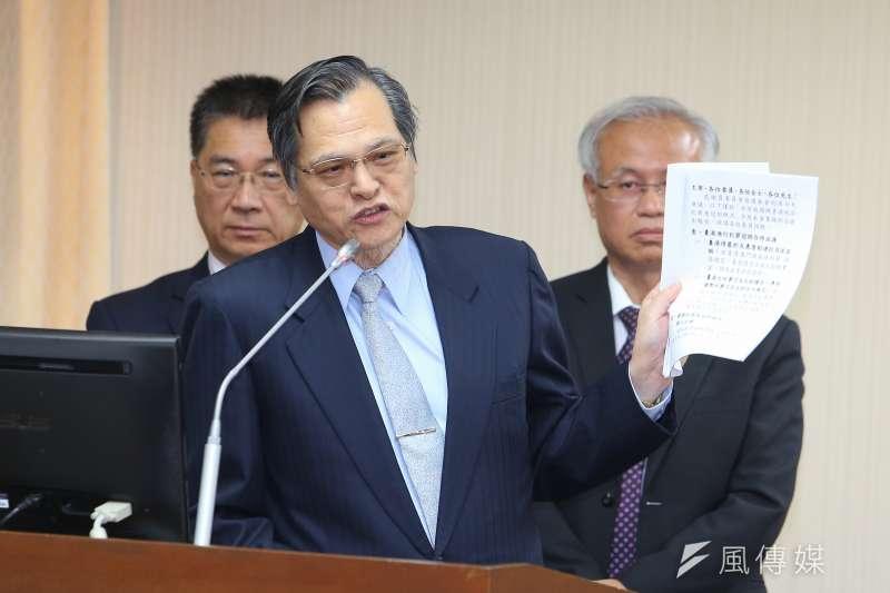20191024-陸委會主委陳明通24日於立院內政委員會備詢。(顏麟宇攝)