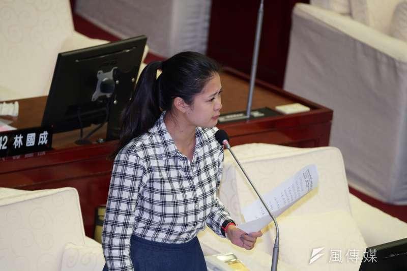 20191024-台北市議員林亮君24日赴市議會質詢。(盧逸峰攝)