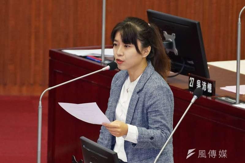 20191024-台北市議員林穎孟24日赴市議會質詢。(盧逸峰攝)