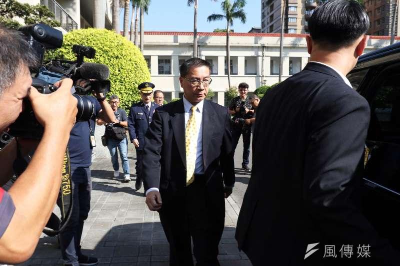 針對昨與記者互嗆風波,內政部長徐國勇(見圖)25日下午表示,自己只是要對方客氣點。(蘇仲泓攝)