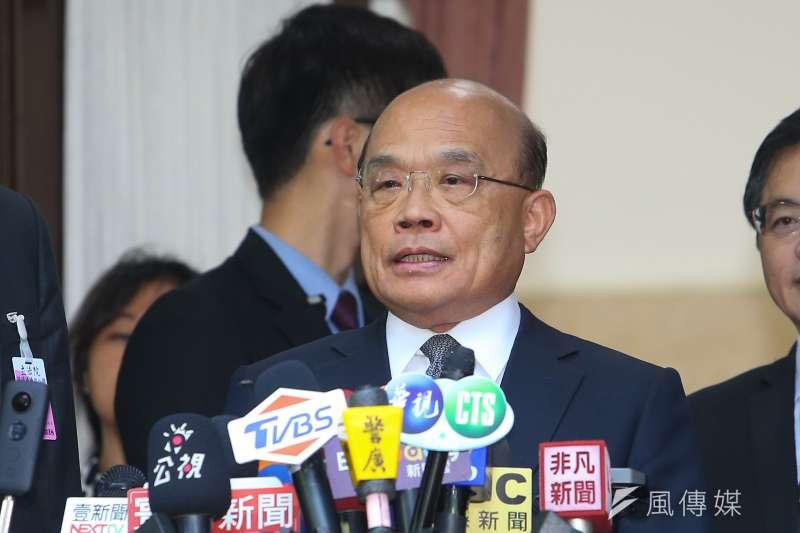 20191025-行政院長蘇貞昌25日出席立院總質詢。(顏麟宇攝)