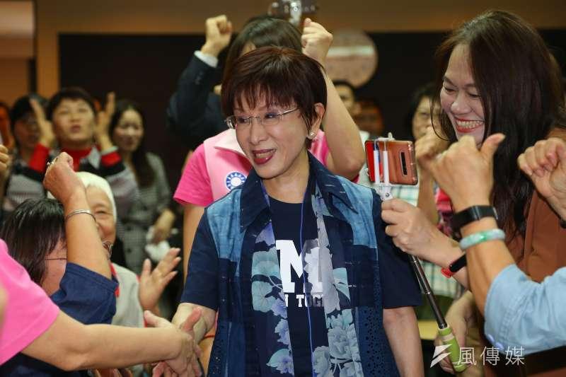 前國民黨主席洪秀柱表示,為持續向國人發聲,未來每週發佈短片。(資料照片,顏麟宇攝)