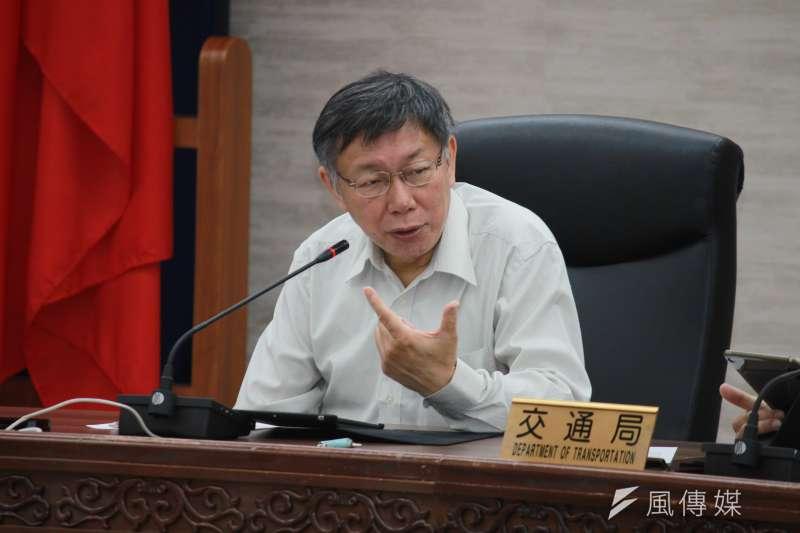 針對前馬英九友人、知名律師陳長文傳出接受港女命案凶嫌陳同佳委任,台北市長柯文哲(見圖)25日表示,深呼吸放輕鬆,做該做的事。(方炳超攝)