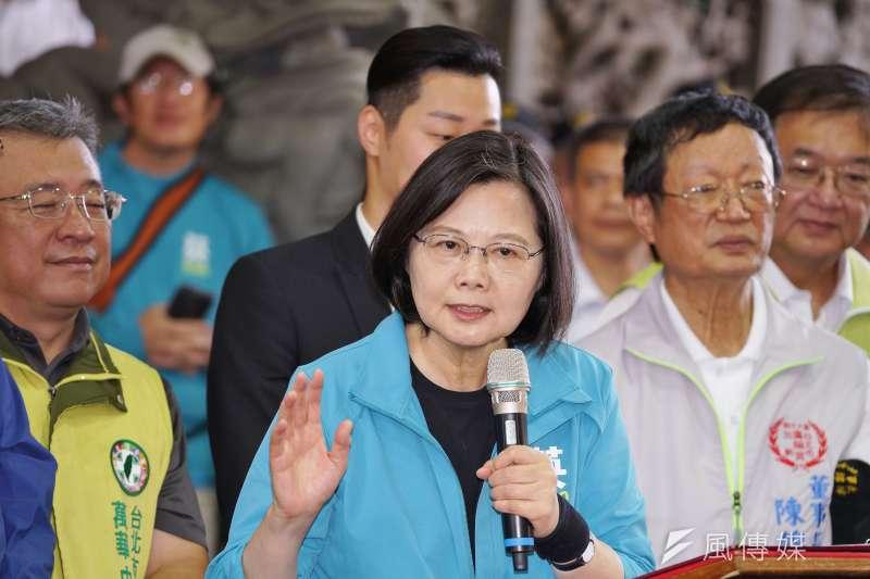 台灣民意基金會董事長游盈隆指出,在2020總統大選中,支持總統蔡英文(見圖)的選民年齡具有明顯的世代差異。(資料照,盧逸峰攝)