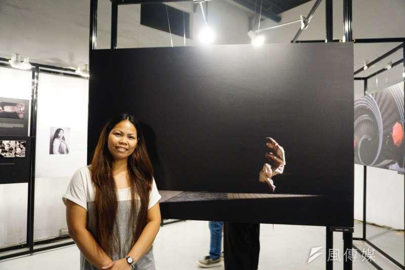 One-Forty於松菸舉辦「轉機台灣」年度攝影展,特別邀請移工攝影師Joan Pabona來台展示其作品,這也是她首場海外展覽。(蘇曉凡攝)