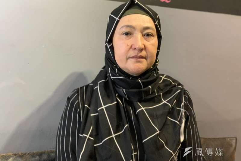 再教育營受害者:哈薩克維吾爾人古力巴哈(簡恒宇攝)