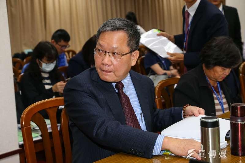 20191028-財政部長蘇建榮28日出席財政委員會。(顏麟宇攝)