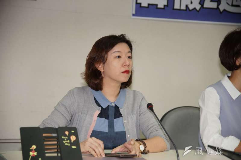 安定力量副秘書長毛嘉慶3日表示,民進黨不分區立委林靜儀(見圖)說「主張統一就是叛國」,這是典型的思想犯、言論犯,等於「刑法100條」的復辟。(資料照,盧逸峰攝)