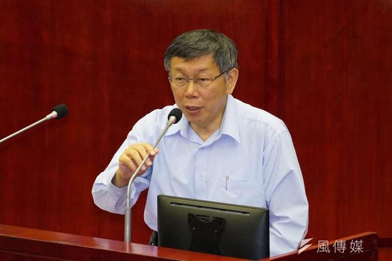 台北市長柯文哲29日出席市政總質詢。(盧逸峰攝)