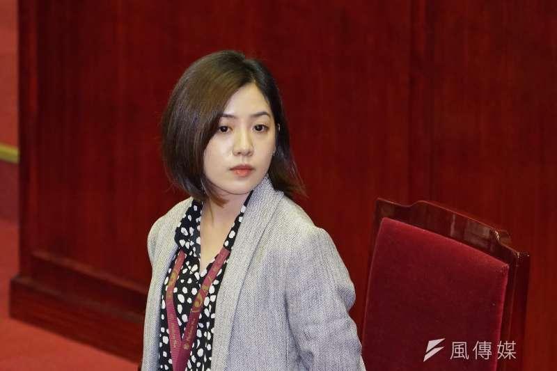 台灣民眾黨日前公布不分區立委名單,台北市副發言人黃瀞瑩排名第13。(資料照,盧逸峰攝)