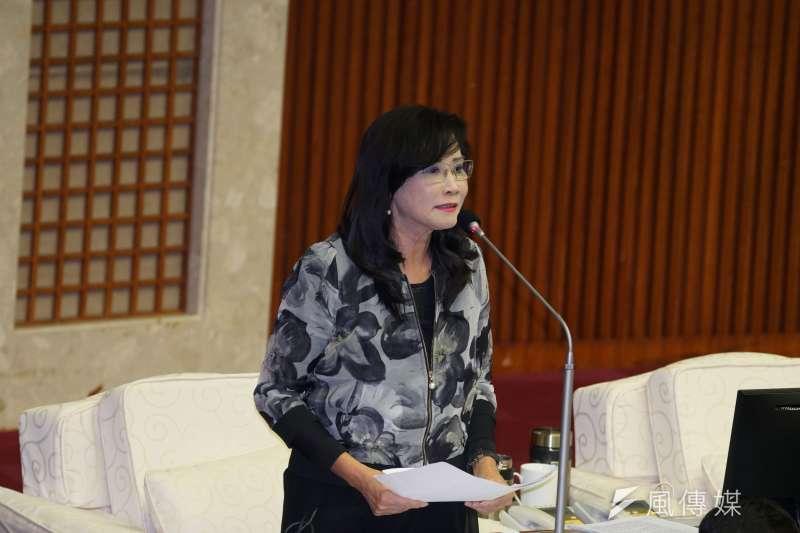 20191029-台北市議員秦慧珠於29日出席市政總質詢。(盧逸峰攝)