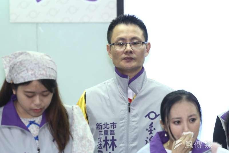 20191029-台灣維新黨2020年立委參選人公佈記者會,新北三重區立委參選人林泰龍。(陳品佑攝)