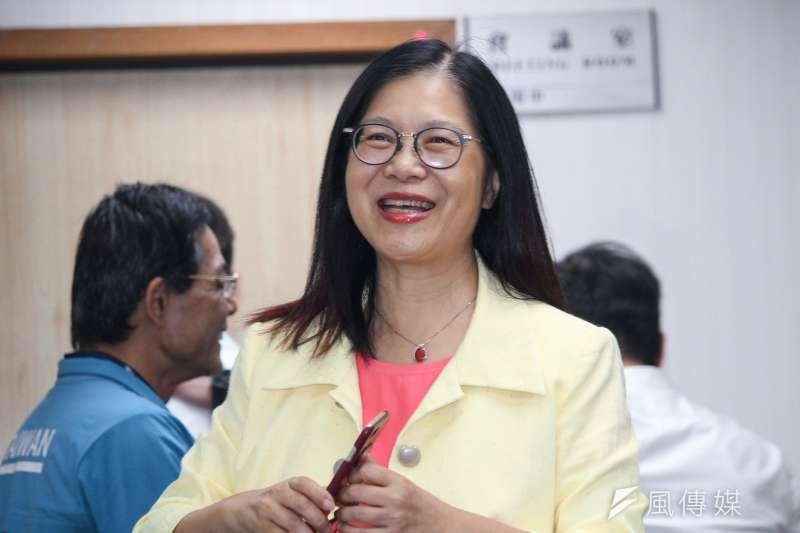 針對將社民黨主席范雲列入不分區質疑聲浪,民進黨立委管碧玲(見圖)21日在臉書為范雲發聲。(資料照,蔡親傑攝)