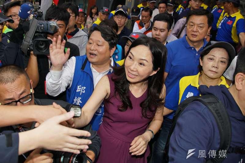 韓國瑜夫人李佳芬談雙語教學,成為選戰話題。(盧逸峰攝)