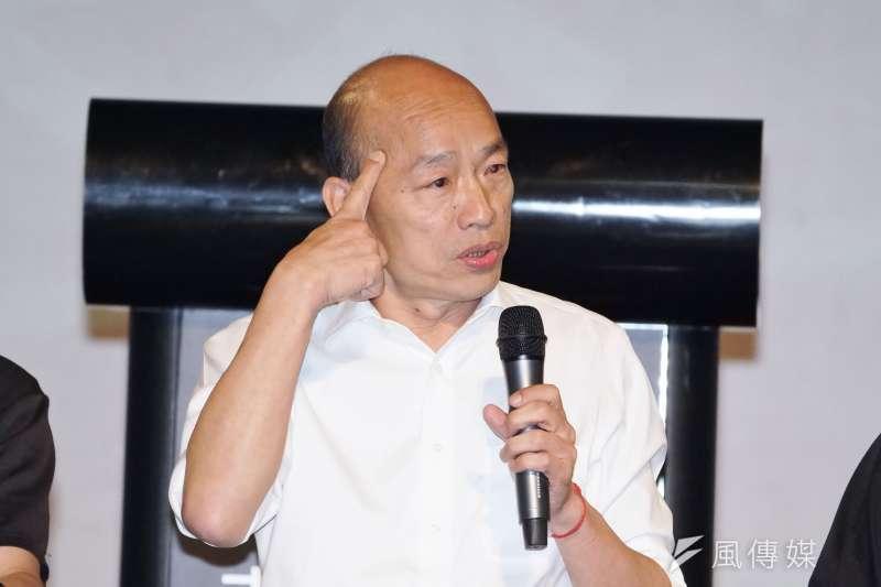 對於前行政院長賴清德稱韓「還是奇才,過去是奇特,現在是奇怪」,國民黨總統參選人韓國瑜(見圖)表示,這時講一些酸言酸語,對賴的形象未必是好。(資料照,盧逸峰攝)