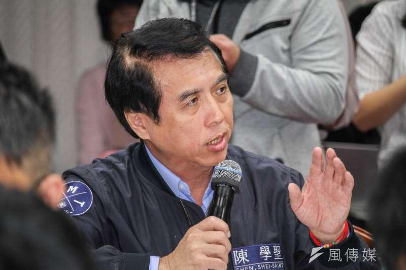 20191030-立委陳學聖出席立院教育委員會質詢。(蔡親傑攝)