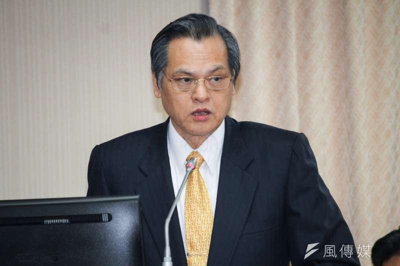 陸委會主委陳明通30日赴立法院列席陸委會預算審查。(蔡親傑攝)