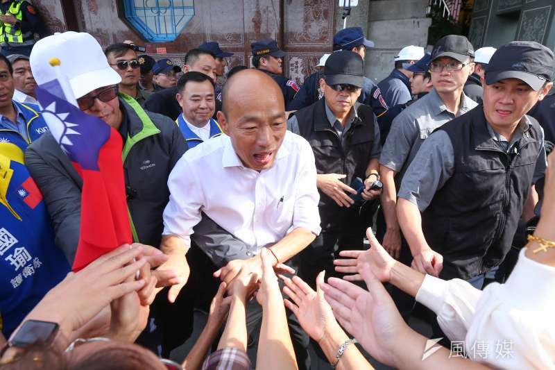 國民黨總統參選人韓國瑜(顏麟宇攝)