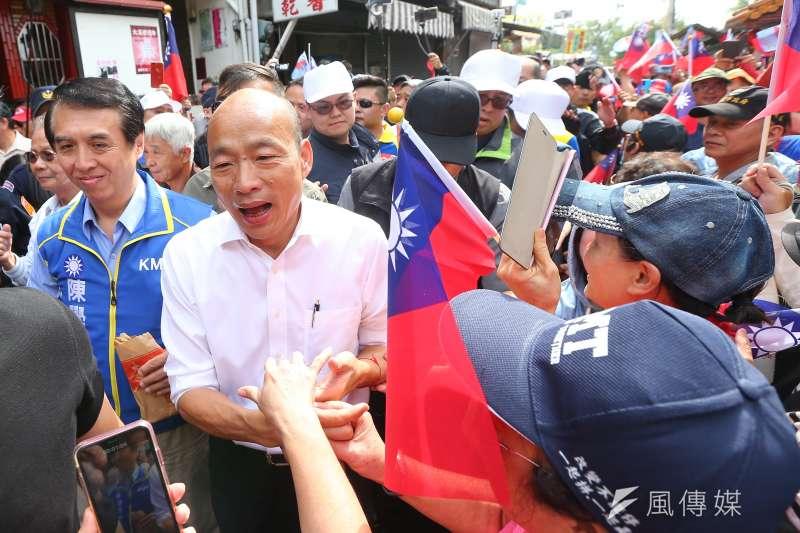 國民黨總統參選人韓國瑜5日表示,自己簡單的問答,怎麼會被抹黑、扭曲到不可思議的地步。(資料照,顏麟宇攝)