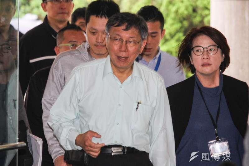 20191031-台北市長柯文哲至市議會接受市政質詢。(蔡親傑攝)