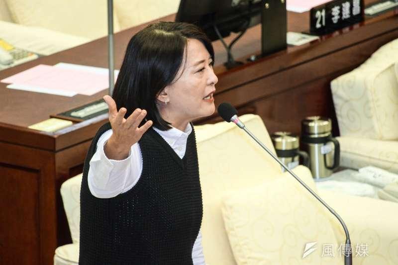 台北市議員王鴻薇接受大陸央視訪問,以 「台灣領導人」稱呼蔡英文總統,遭到綠營一輪猛攻。(蔡親傑攝)