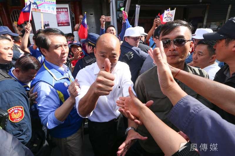 國民黨總統參選人韓國瑜說台灣是寶地也成為爭議。(顏麟宇攝)